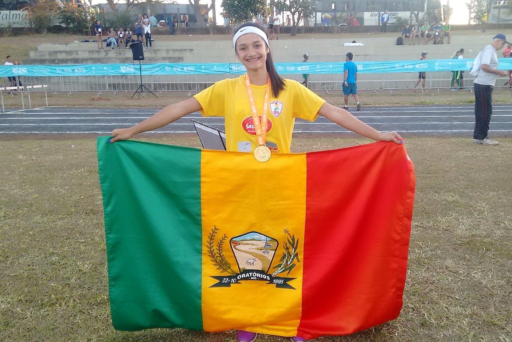 Maria Luiza atleta Saudali